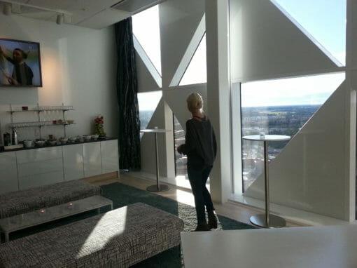 Hanna Magnusson fick en läcker utsikt från Viktoria tower