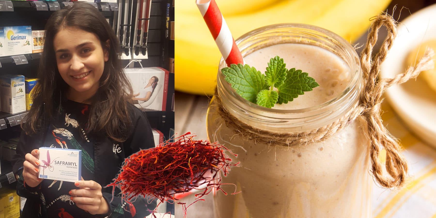 Recept: Zahras Saffransmoothie (för ökat välmående och glatt humör!)