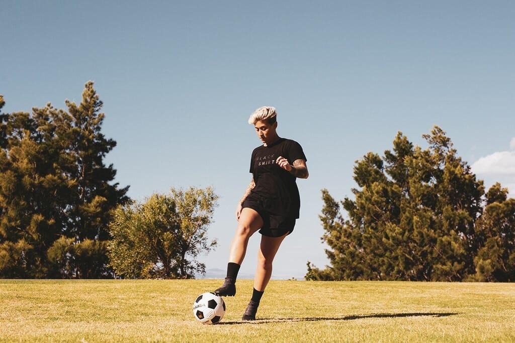 fotbollsspelare-fotboll