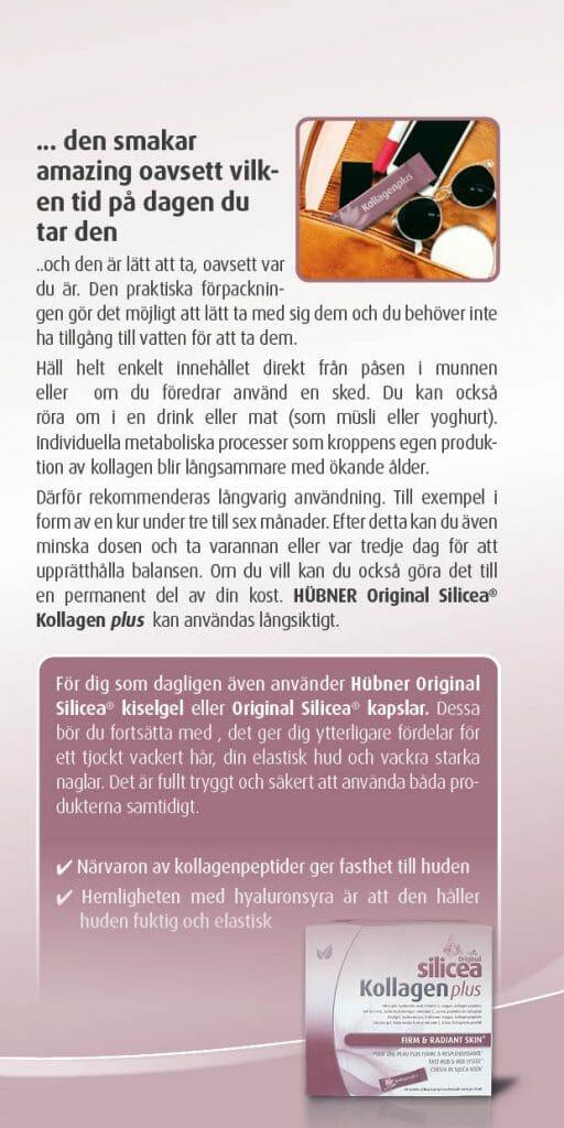 Silicea kollagen plus broschyr sid1 1