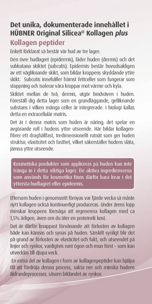 Silicea kollagen plus broschyr sid 3