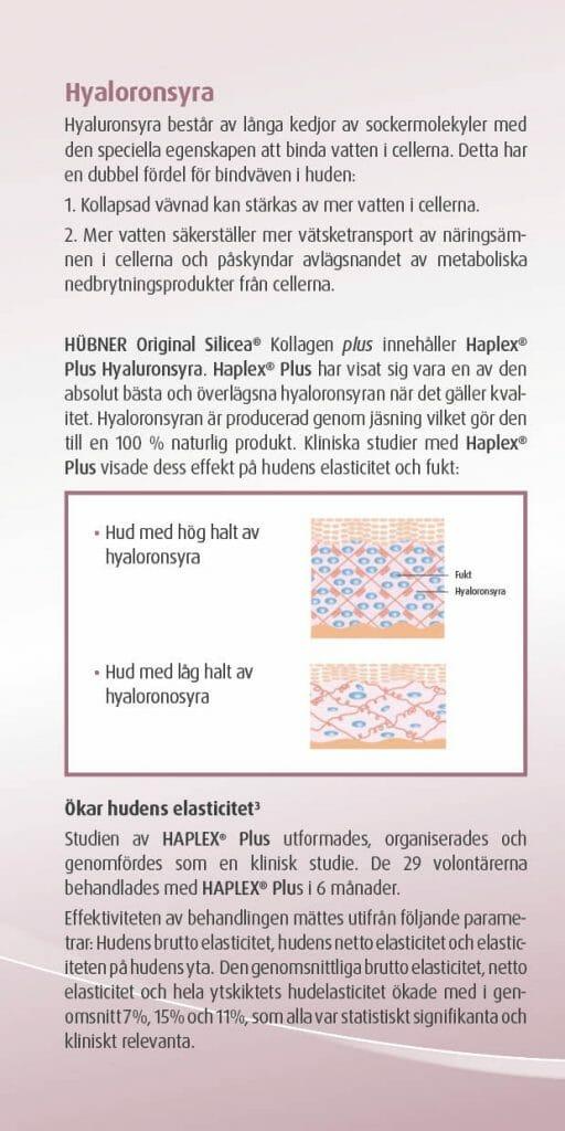 Silicea kollagen plus broschyr sid 6