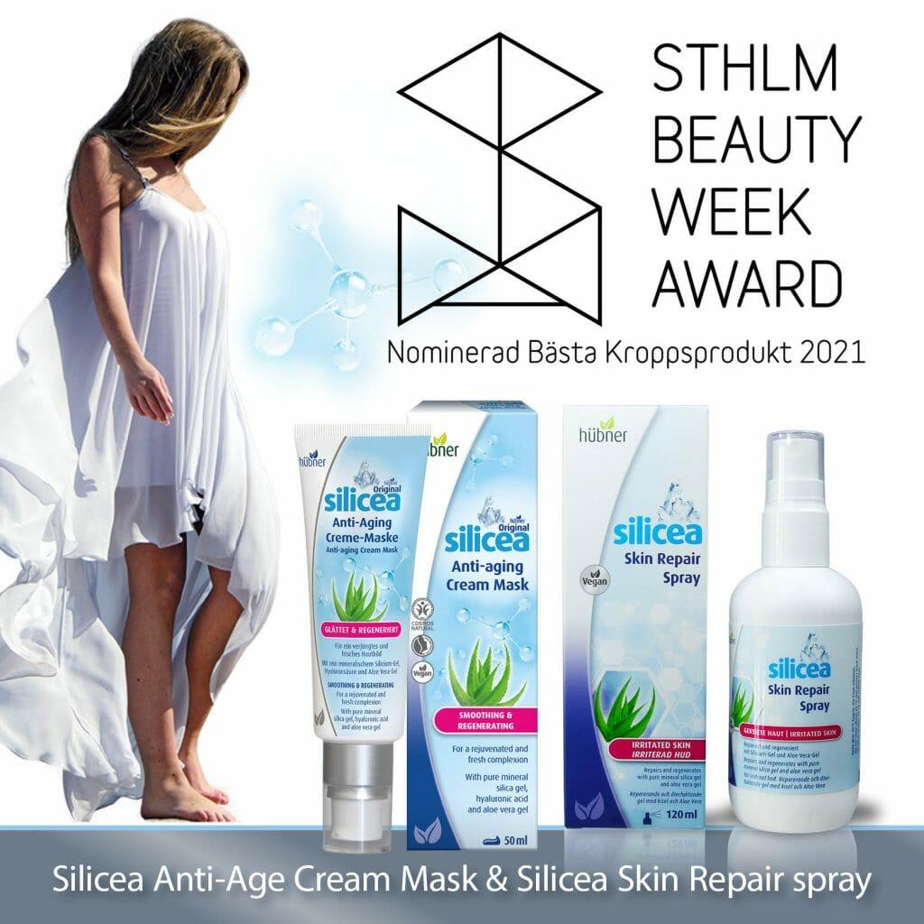 silicea anti aging mask nominerad i stockholm beauty week award